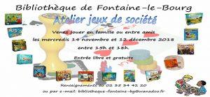 Atelier Jeux de Société @ Bibliothèque   Fontaine-le-Bourg   Normandie   France