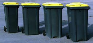 Ramassage des poubelles jaunes de tri sélectif